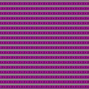 20 Coordinate Stripe for Dice in the Stars in Purple