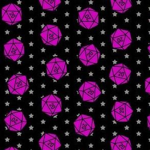 Dice in the Stars in Purple