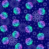 Aurora Dice with Fireworks