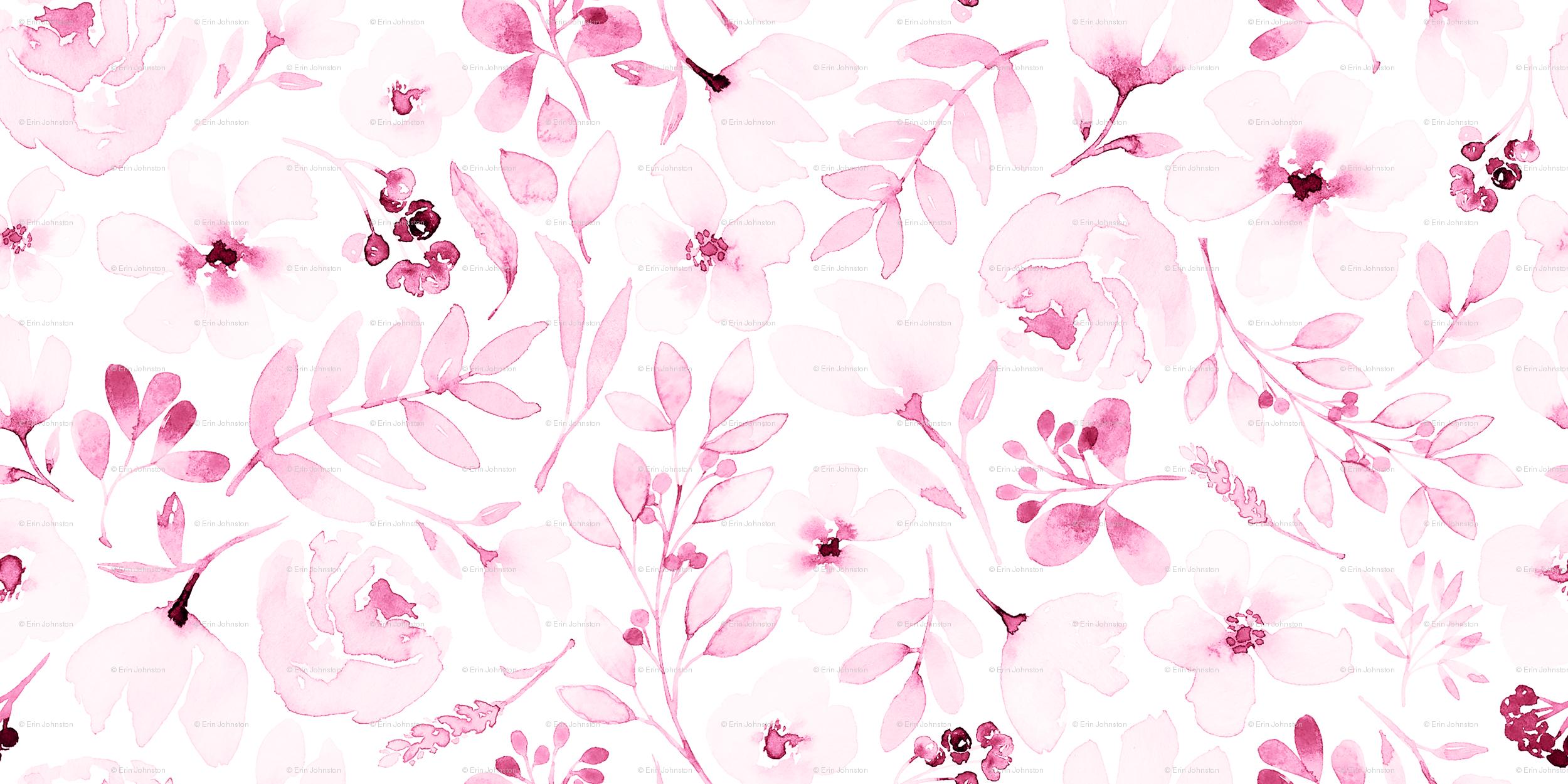Dainty Watercolor Flower Wallpaper Free Download Wallpaper