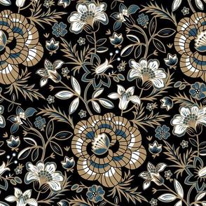 Elora Floral - Black