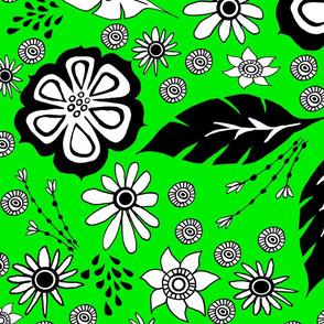 Black and White design lime