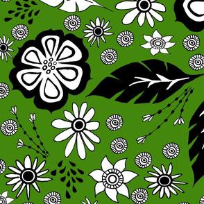 Black and White design olive