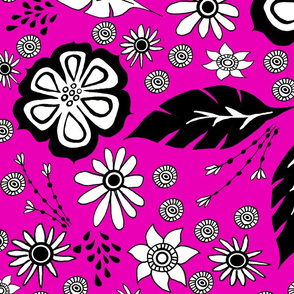 Black and White design pink