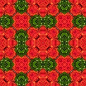 18-02f Christmas Orange Red Green Abstract Floral  _ Miss Chiff Designs