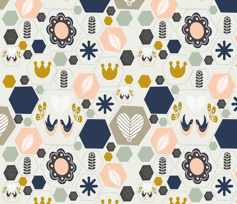 Scandinavian  fabric by miaya on Spoonflower - custom fabric