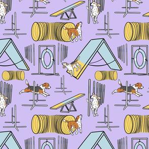 Simple Beagle agility dogs - purple