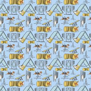 Simple Beagle agility dogs small - blue