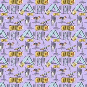 Simple Beagle agility dogs small - purple