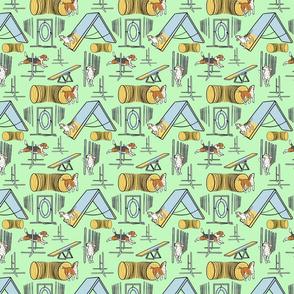 Simple Beagle agility dogs small - green