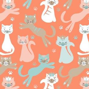 Queen Cats Atomic Orange
