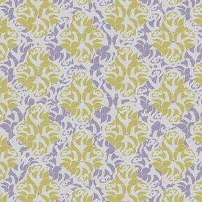 Lilac Green Geometric Texture Pattern