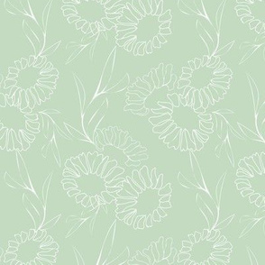 Pastel Green Floral Texture Pattern