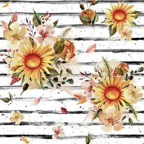 """8"""" Golden Sunflowers // Black Stripes"""