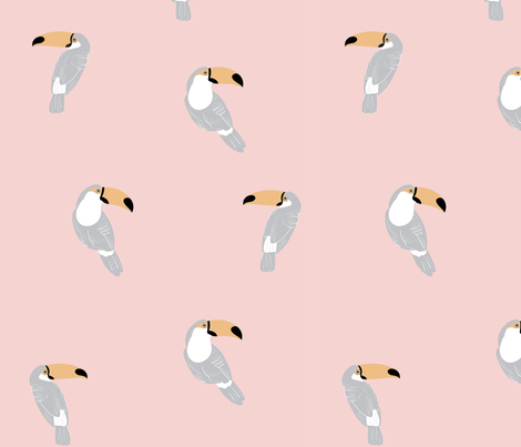 Toucan - Pink fabric by meganpalmer on Spoonflower - custom fabric