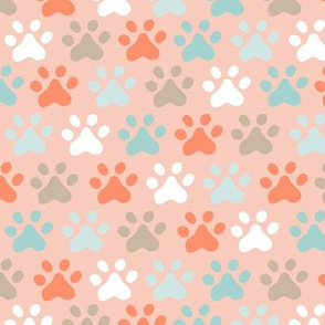 Meowtastic Paw Prints Pink