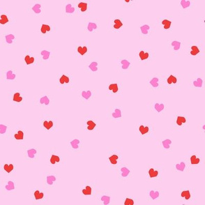 valentines confetti hearts fabric - valentines day fabric, hearts fabric, sweet girls fabric, cute girls fabric - pastel pink