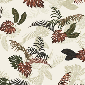 Ferny Floral - Ivory