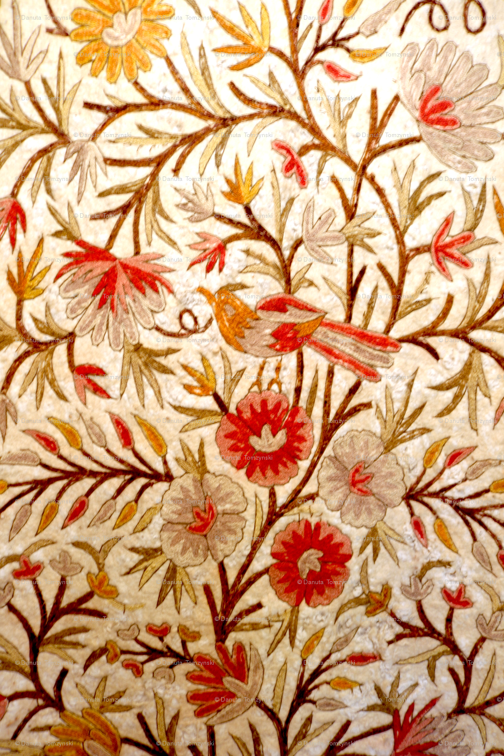 Floral Embroidery Small Fabric Danuta Tomzynski Spoonflower