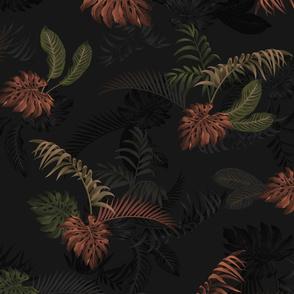 Ferny Floral - Black