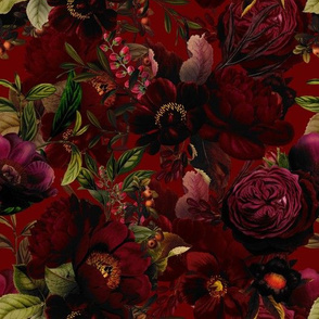 """10"""" Moody Florals by UtART - Mystic Night 1"""