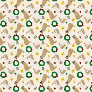 Tiny Anatolian Shepherd dogs - Christmas