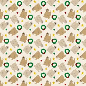 Tiny Wheaten Terrier - Christmas