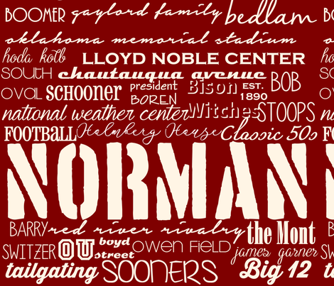 Norman Oklahoma Subway  fabric by thelambertcompany on Spoonflower - custom fabric