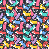 Cute and funny corgi pattern colorful