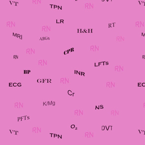Pink Nurse Abbreviations