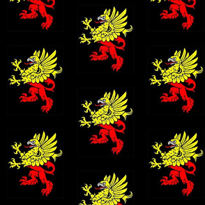 Gryphon Red Yellow on Black