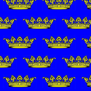 Crown Blue Black and Gold