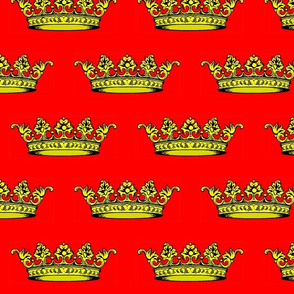 Crown Red Black and Gold