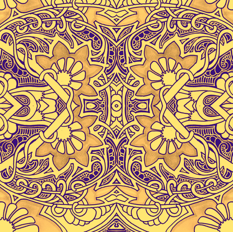 Golden Age of Bollywood fabric by edsel2084 on Spoonflower - custom fabric