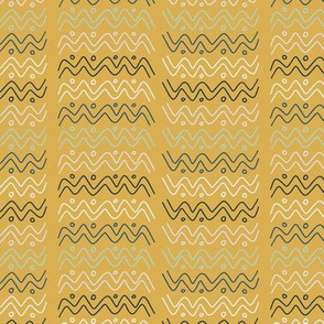 Tribal Wave Gold