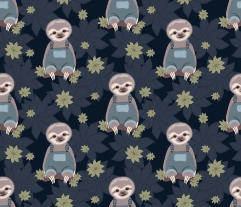 Rrsloth_quarter_with_navy_leaves_contest226112preview