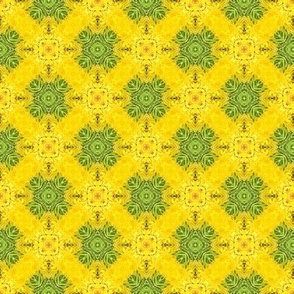 18-02c Lime Green Yellow Geometric Floral _ Miss Chiff Designs