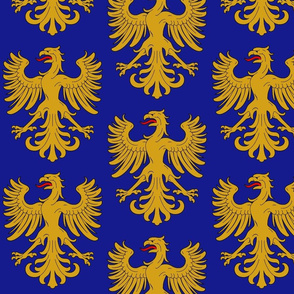 Eagle Blue and Gold