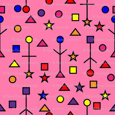 Pink Abstract Symbols