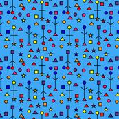 Abstract Symbols Artwork-Blue