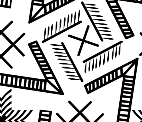 black and white largescale geometry-01 fabric by goodart_17 on Spoonflower - custom fabric