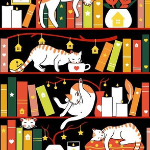 Library cats - autumn