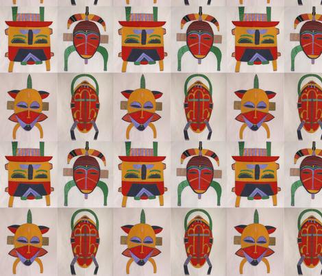 masks fabric by angelheartdesigns on Spoonflower - custom fabric