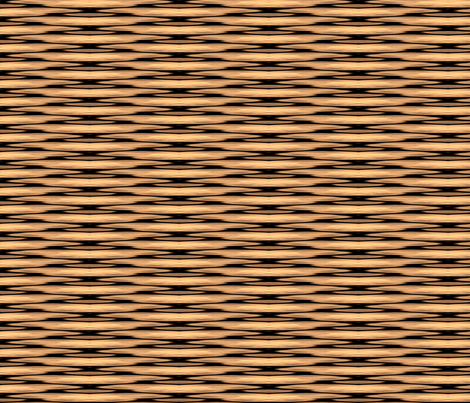 Tan Wicker Basket Full fabric by fabric_is_my_name on Spoonflower - custom fabric