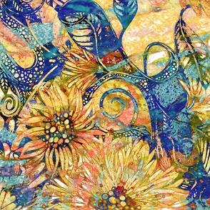 Golden Charm: Floral Splendor