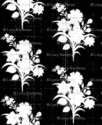 Black and white silhouette bouquet smaller