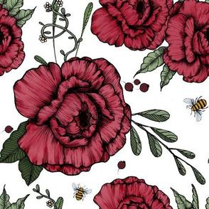 peonies___bees_big white