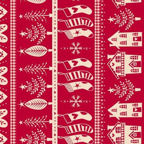 vintage nordic christmas red rotated