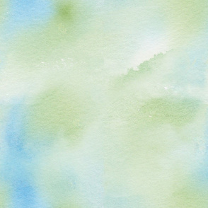 blue and green watercolor wash
