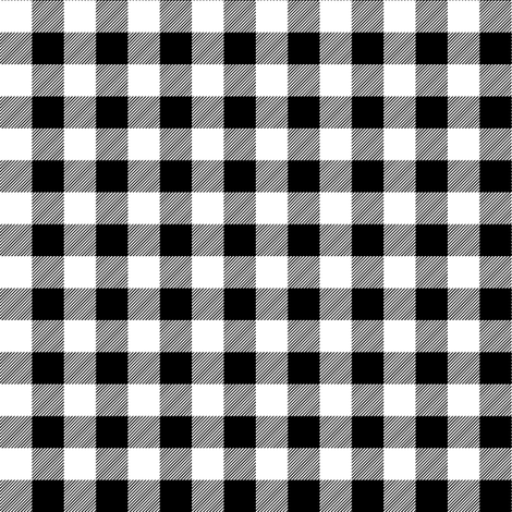 """(1/2""""  scale) black and white plaid -C18BS fabric by littlearrowdesign on Spoonflower - custom fabric"""